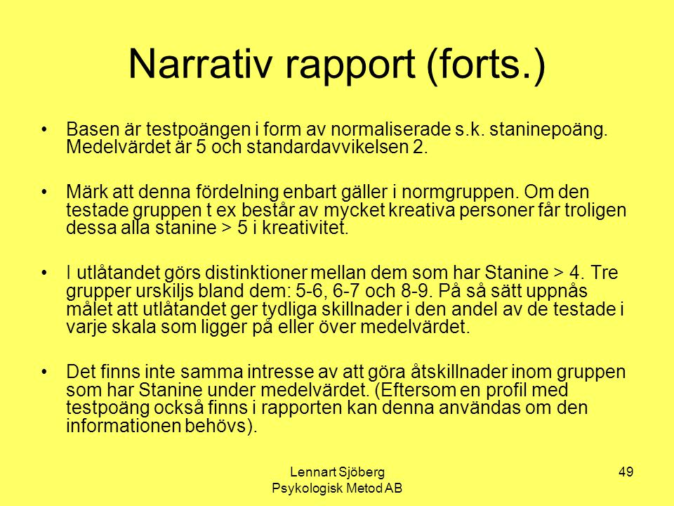 Narrativ rapport (forts.)