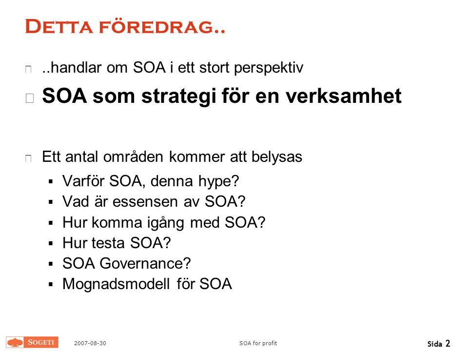 SOA som strategi för en verksamhet