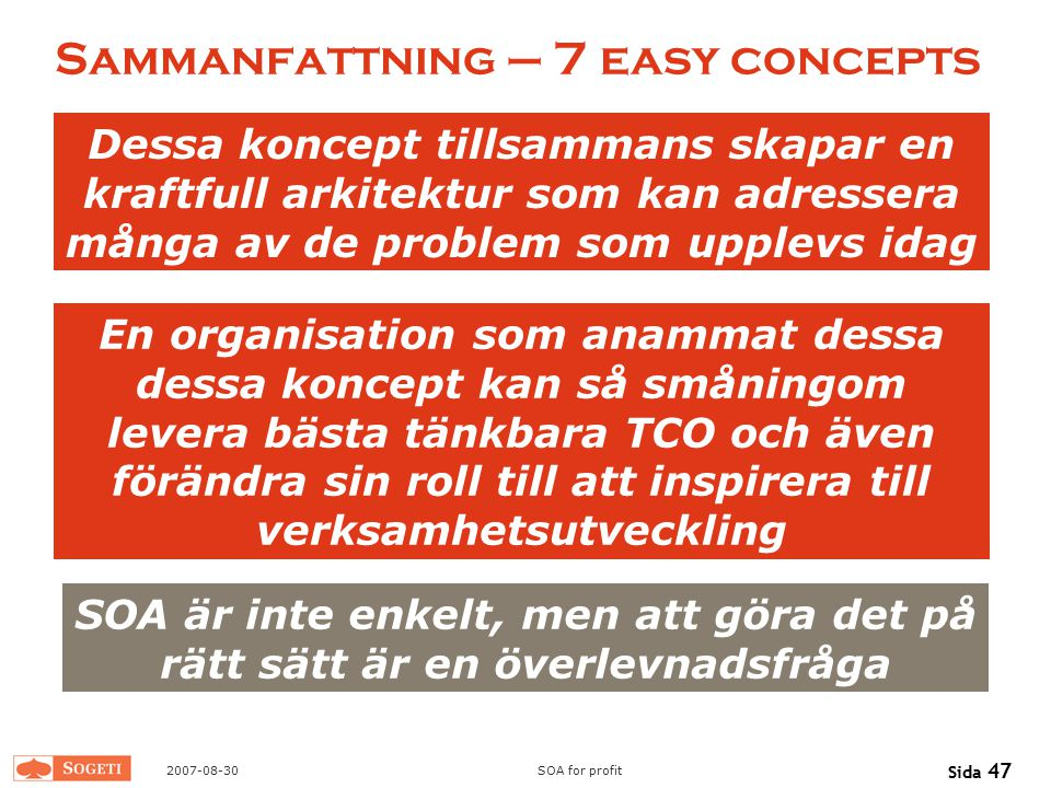Sammanfattning – 7 easy concepts