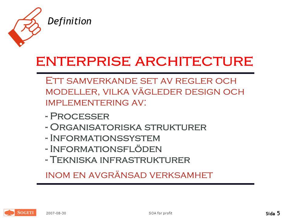 Trebuchet MS Definition 2007-08-30 SOA for profit