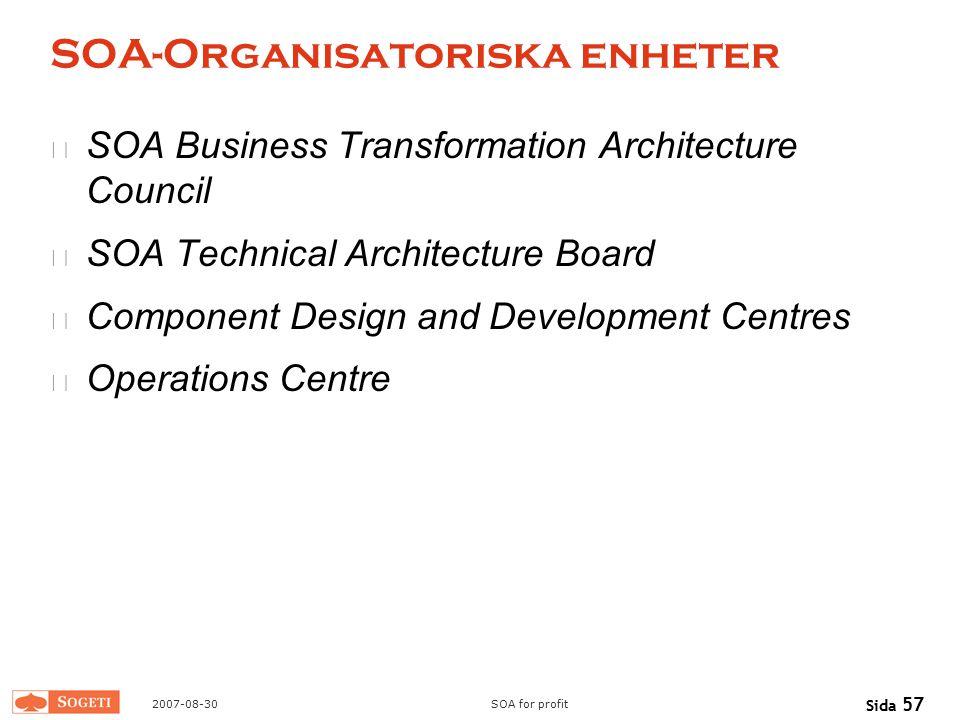 SOA-Organisatoriska enheter