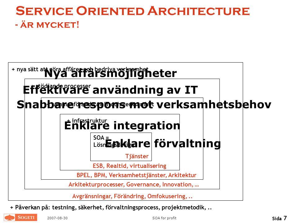 Service Oriented Architecture - är mycket!