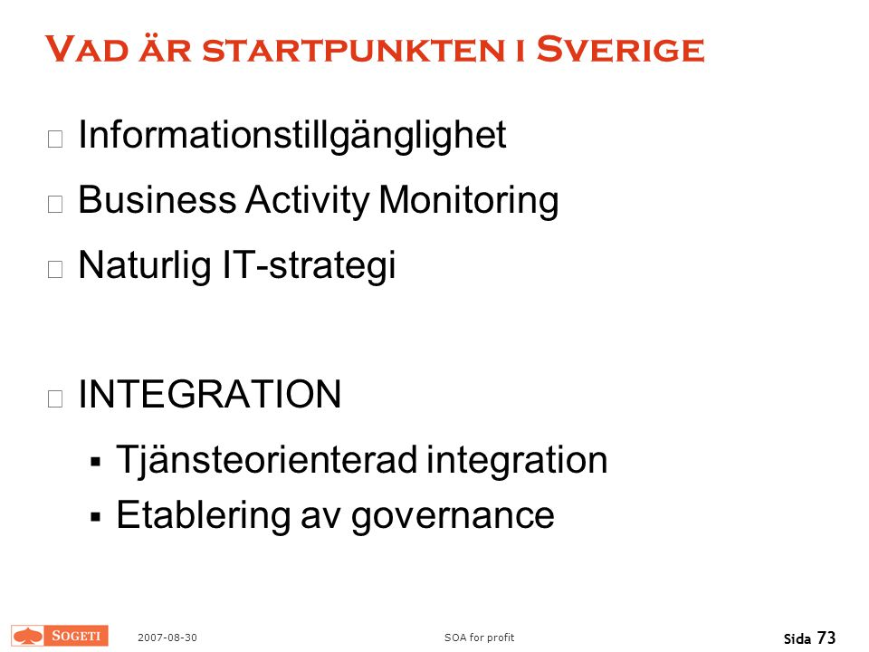 Vad är startpunkten i Sverige