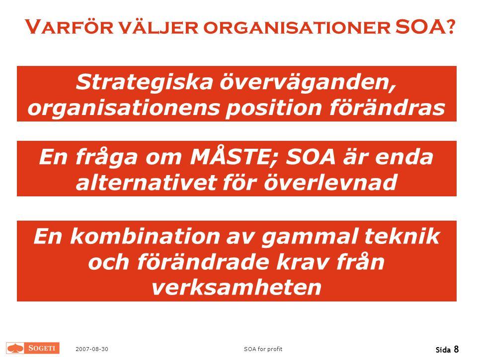 Varför väljer organisationer SOA