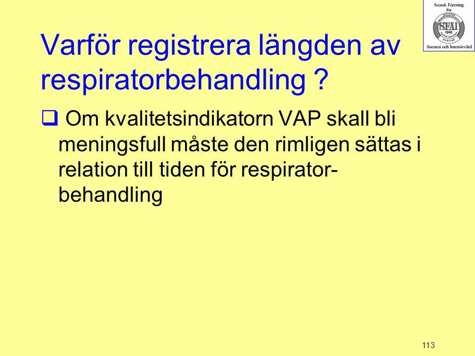 Varför registrera längden av respiratorbehandling