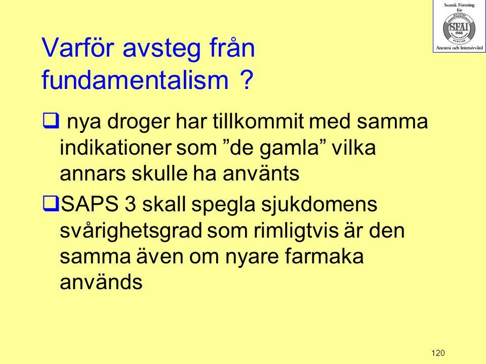 Varför avsteg från fundamentalism