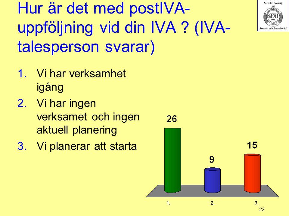 Hur är det med postIVA-uppföljning vid din IVA