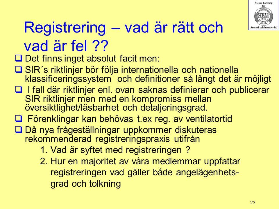 Registrering – vad är rätt och vad är fel