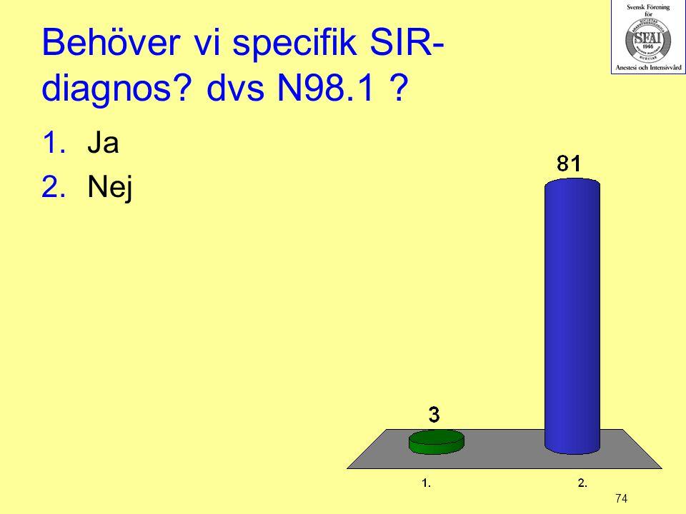Behöver vi specifik SIR-diagnos dvs N98.1