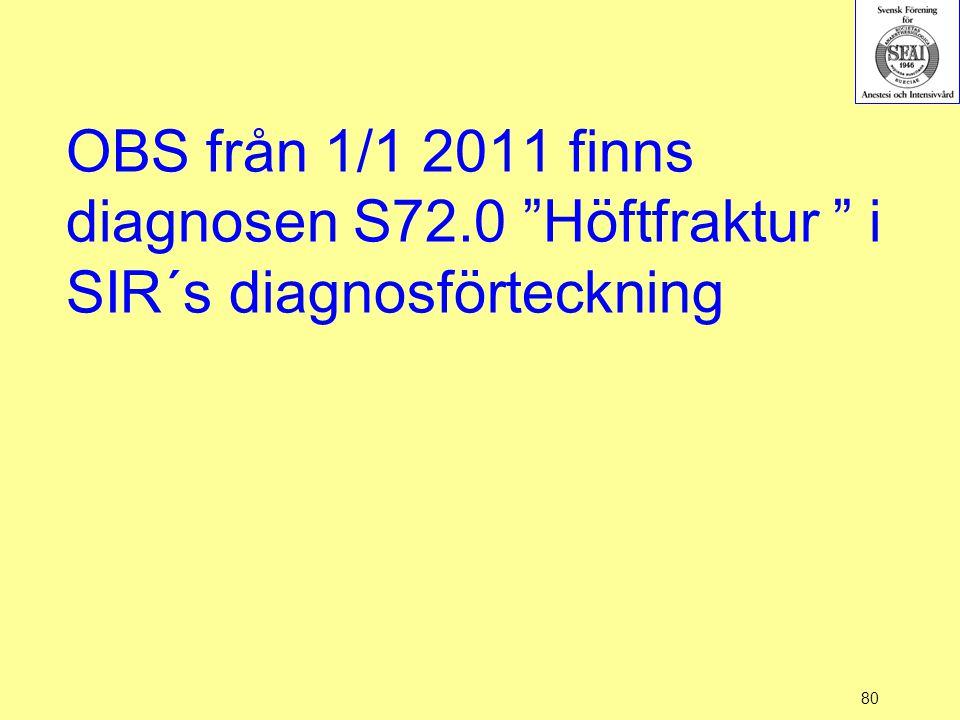 OBS från 1/1 2011 finns diagnosen S72