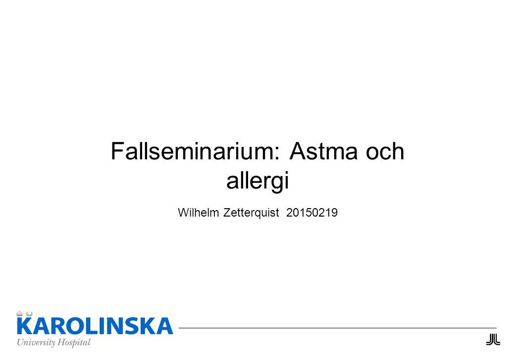 Fallseminarium: Astma och allergi