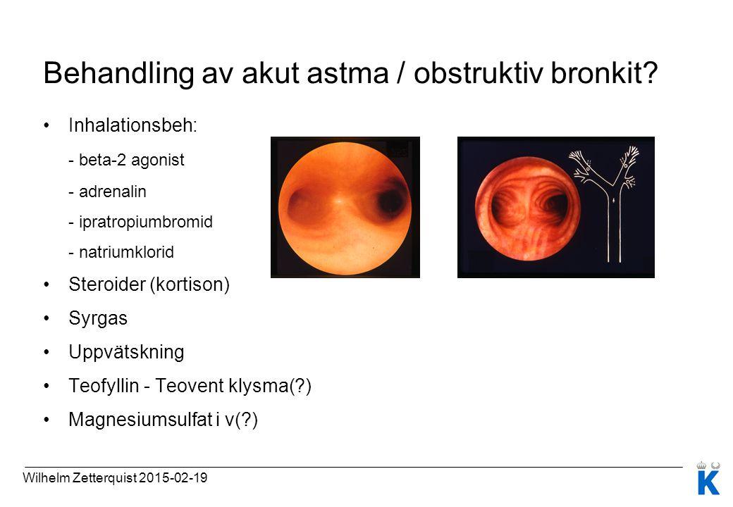 Behandling av akut astma / obstruktiv bronkit