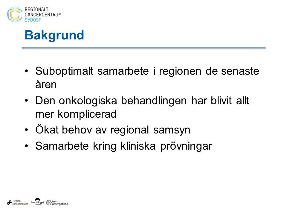 Bakgrund Suboptimalt samarbete i regionen de senaste åren