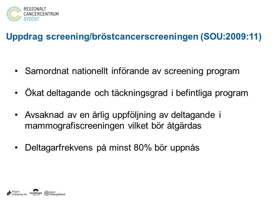 Uppdrag screening/bröstcancerscreeningen (SOU:2009:11)