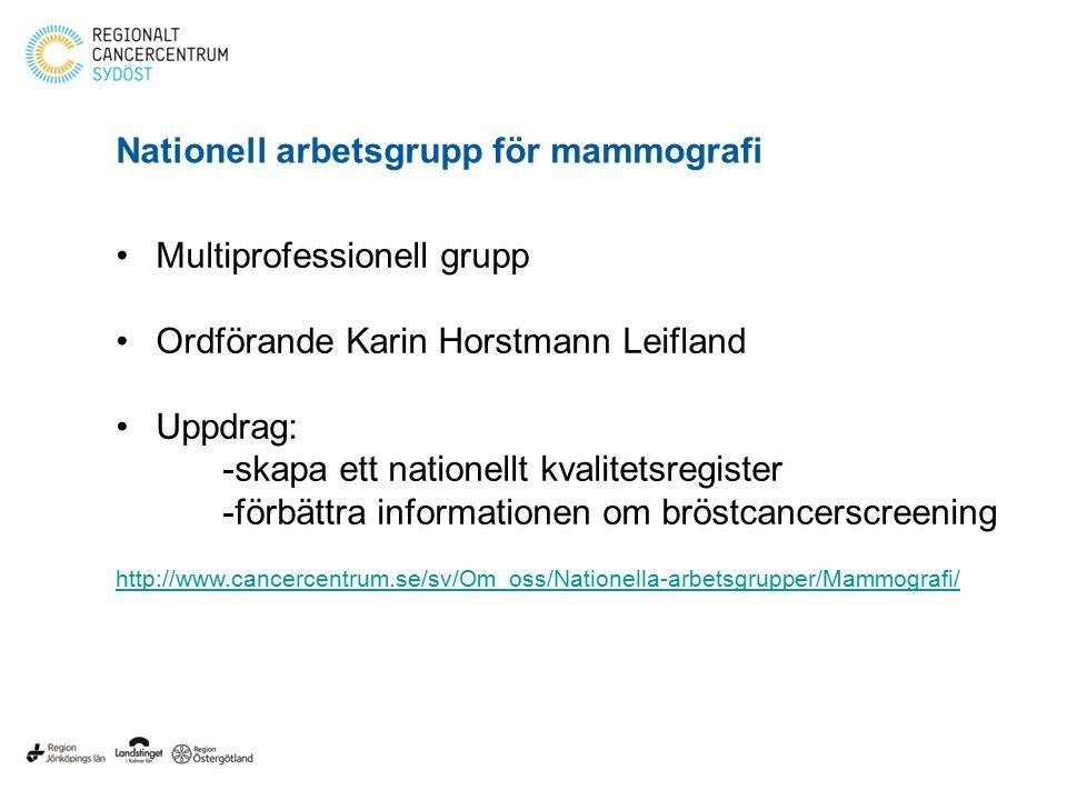 Nationell arbetsgrupp för mammografi