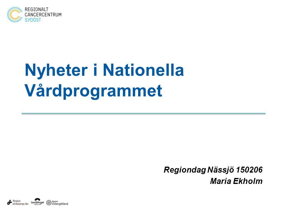 Nyheter i Nationella Vårdprogrammet
