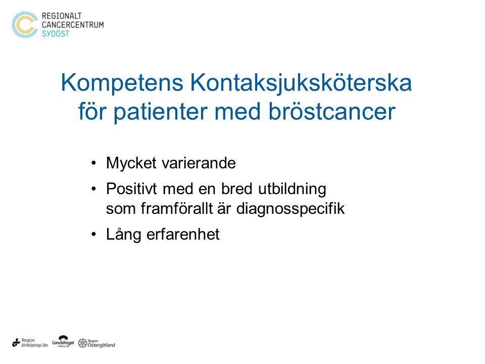 Kompetens Kontaksjuksköterska för patienter med bröstcancer