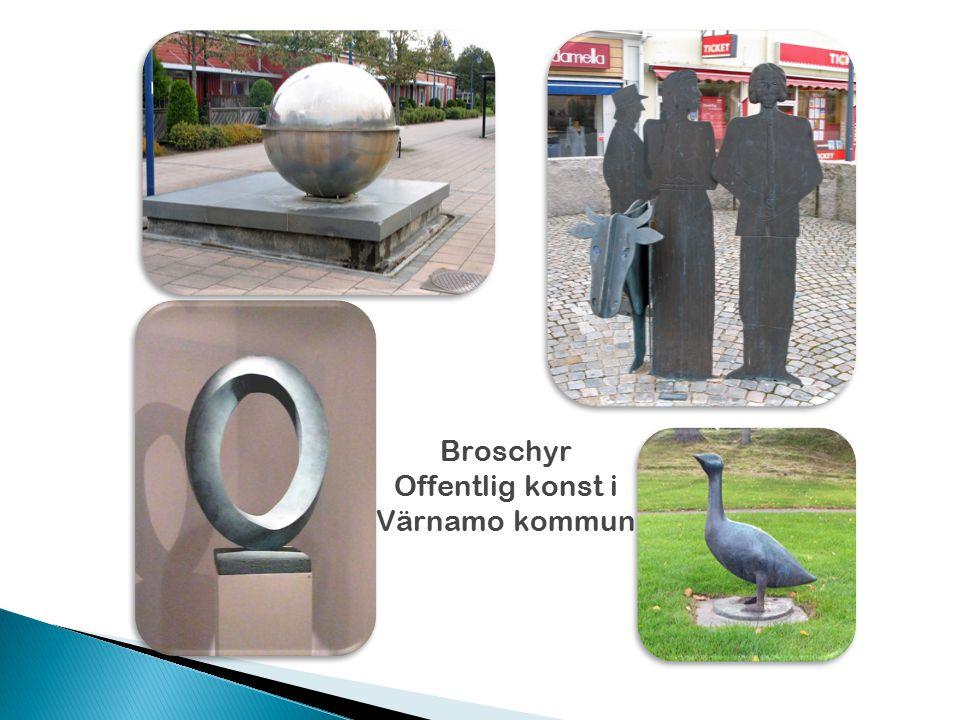Broschyr Offentlig konst i Värnamo kommun