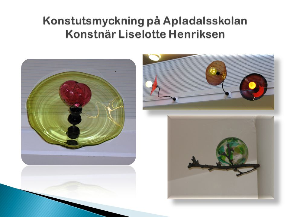 Konstutsmyckning på Apladalsskolan Konstnär Liselotte Henriksen