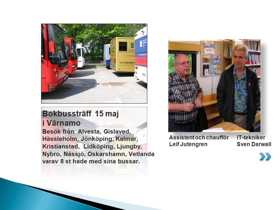 Bokbussträff 15 maj i Värnamo