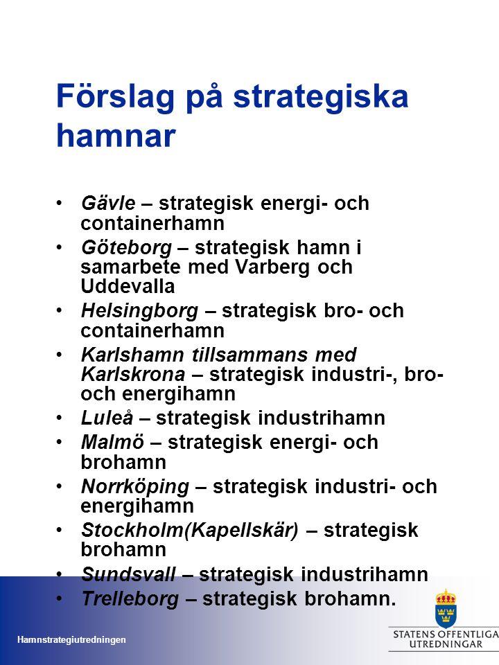 Förslag på strategiska hamnar