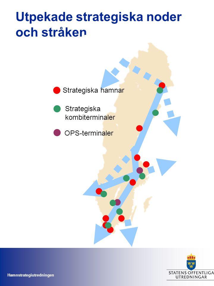 Utpekade strategiska noder och stråken