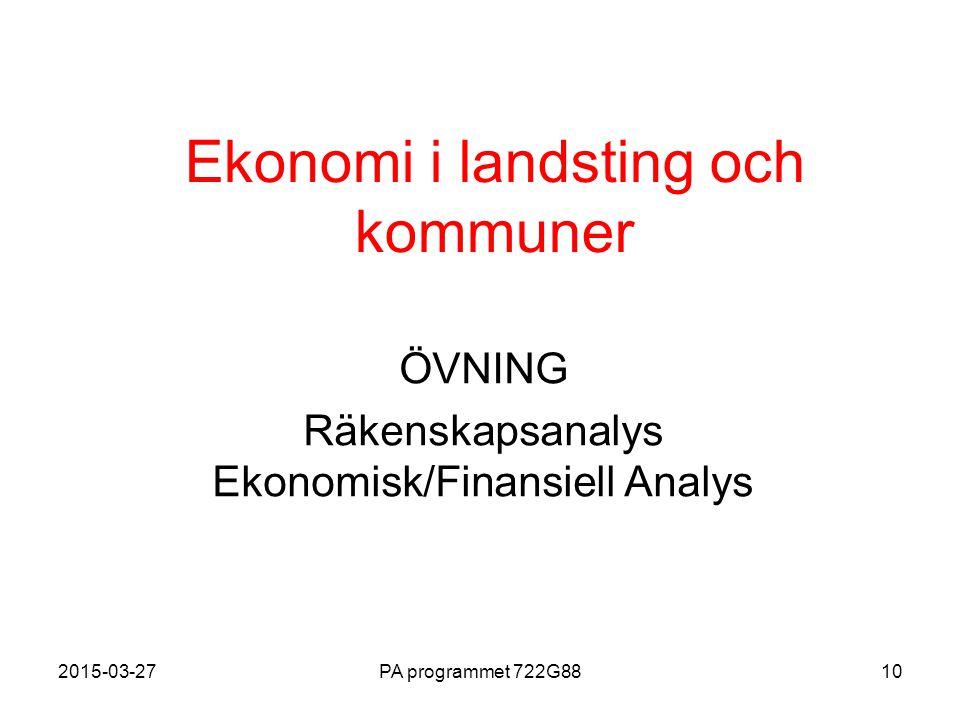 Ekonomi i landsting och kommuner