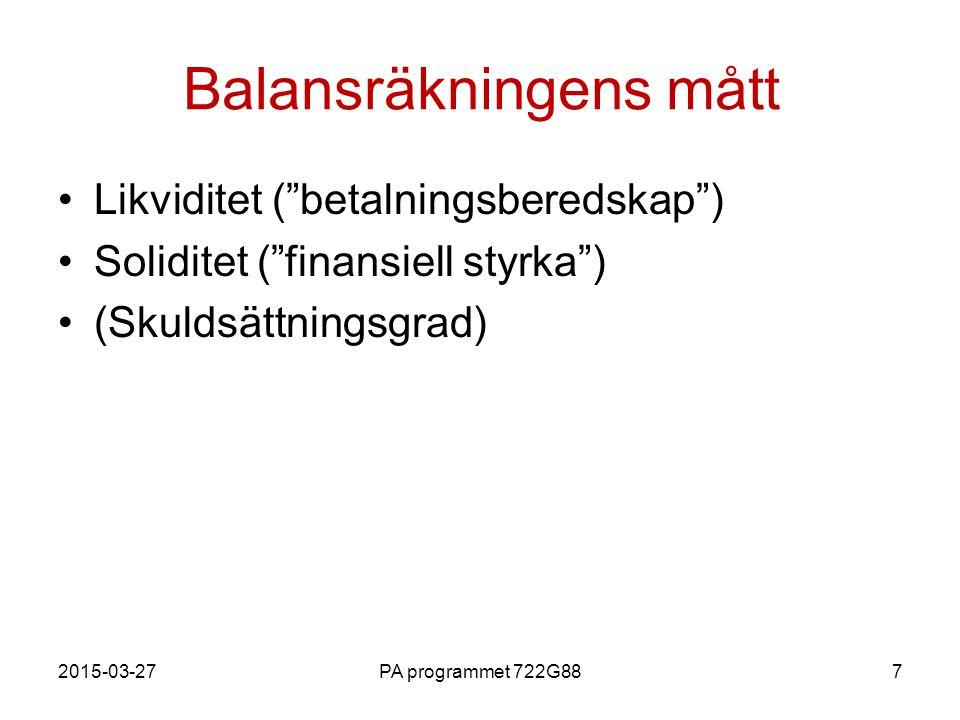Balansräkningens mått