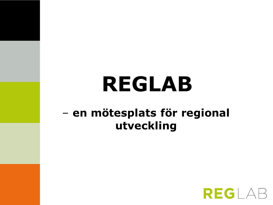 – en mötesplats för regional utveckling