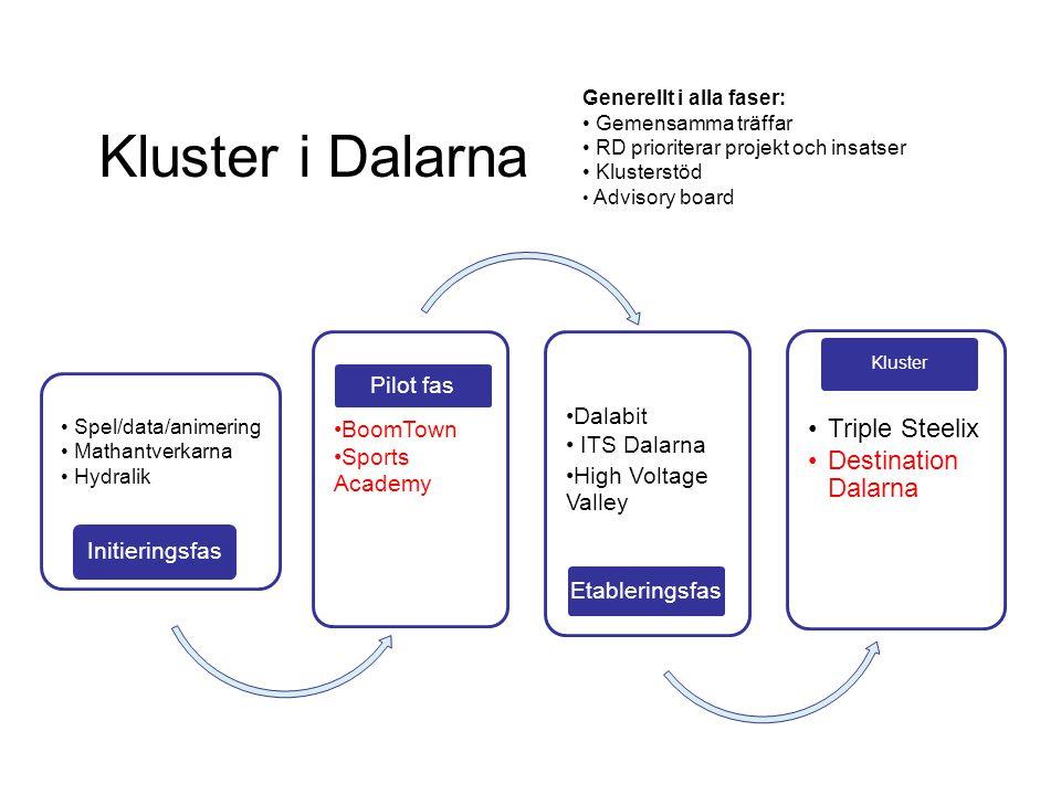 Kluster i Dalarna Triple Steelix Destination Dalarna Initieringsfas