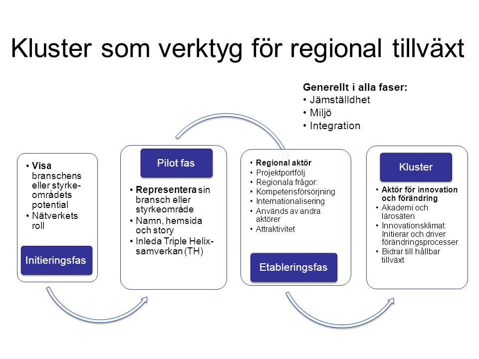 Kluster som verktyg för regional tillväxt