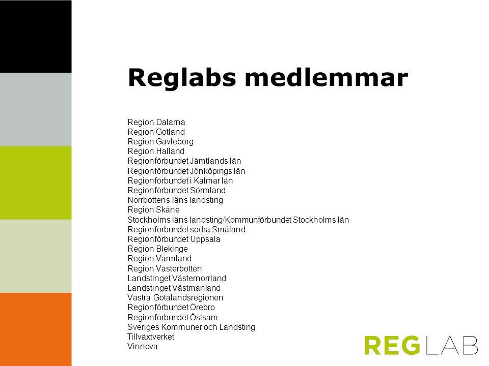 Reglabs medlemmar Region Dalarna Region Gotland Region Gävleborg