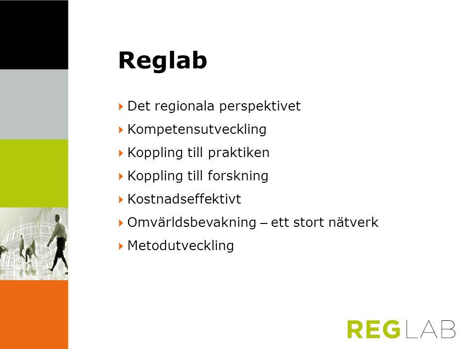 Reglab 4Det regionala perspektivet 4Kompetensutveckling