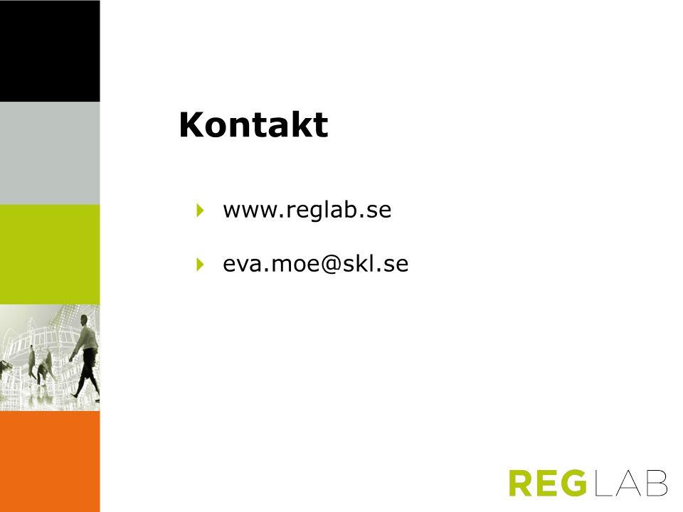 Kontakt 4 www.reglab.se 4 eva.moe@skl.se