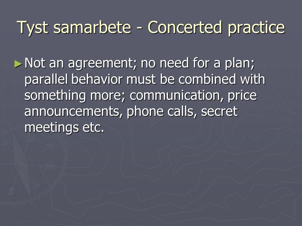 Tyst samarbete - Concerted practice