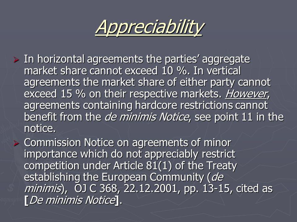 Appreciability