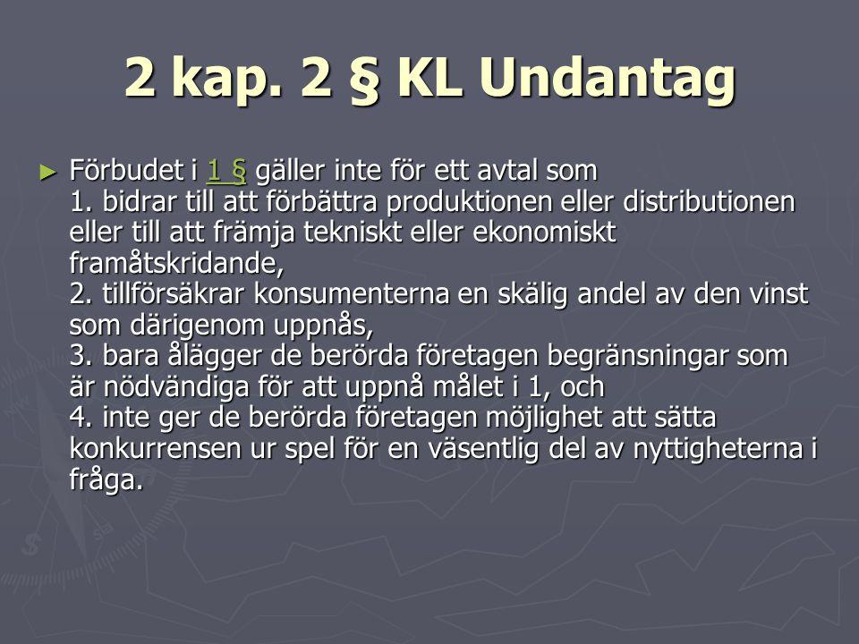 2 kap. 2 § KL Undantag