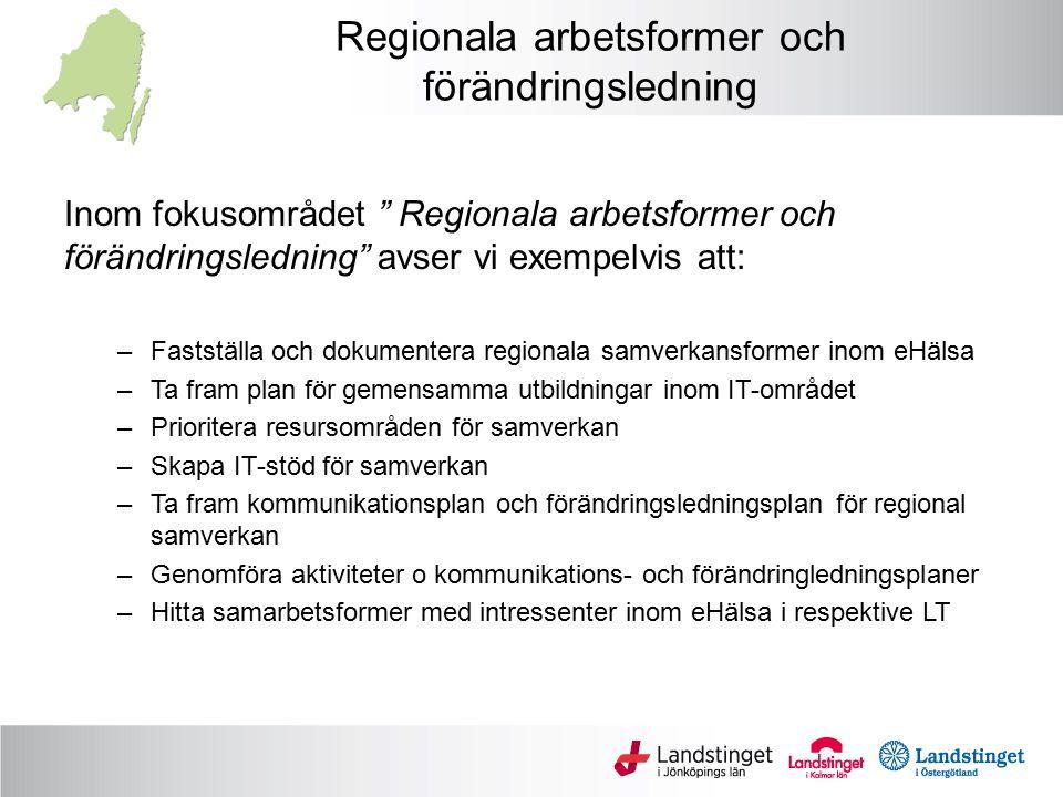 Regionala arbetsformer och förändringsledning