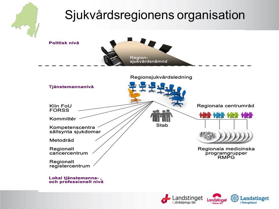 Sjukvårdsregionens organisation