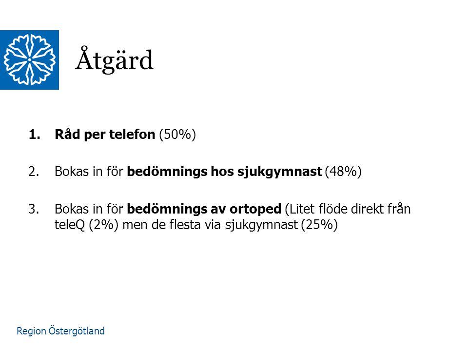 Åtgärd Råd per telefon (50%)