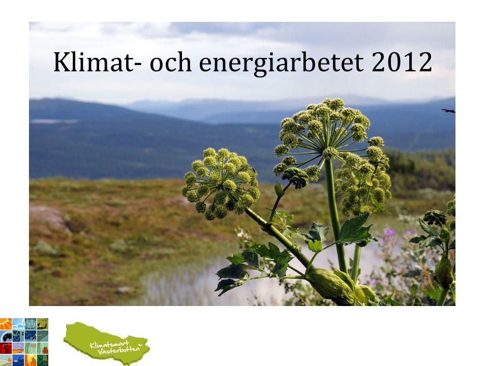 Klimat- och energiarbetet 2012