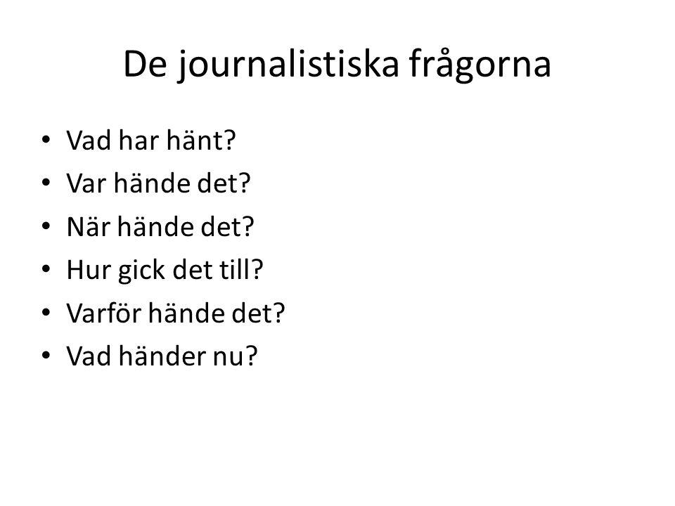 De journalistiska frågorna