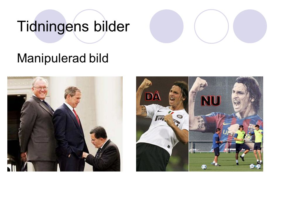 Tidningens bilder Manipulerad bild