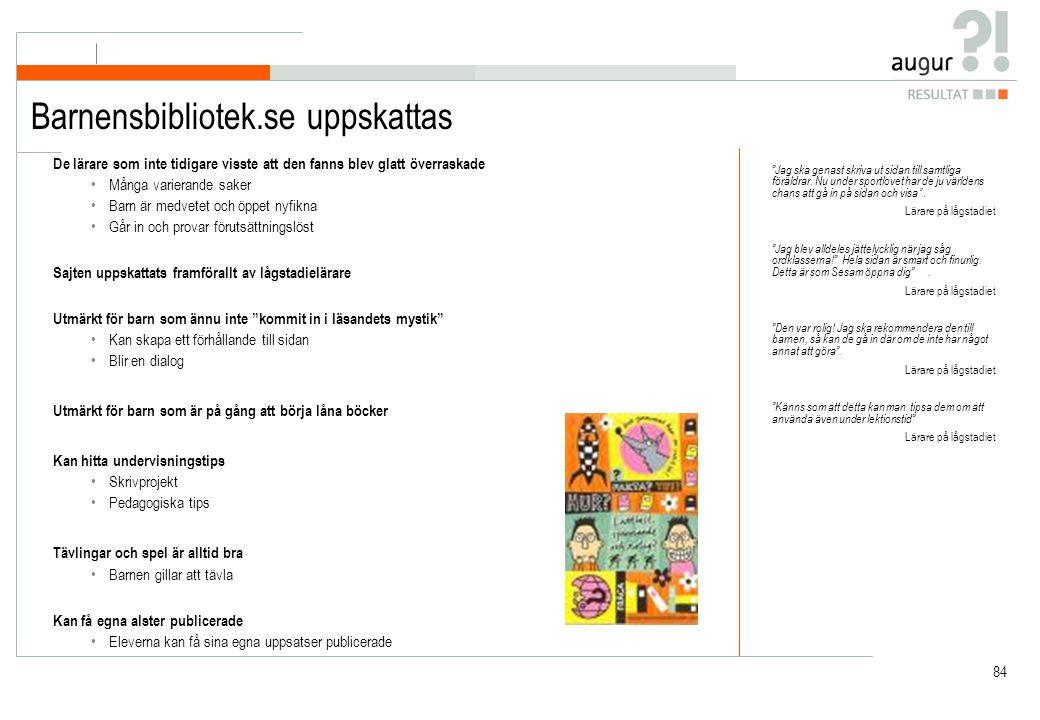 Katalogen / Barnensbibliotek.se - en jämförelse