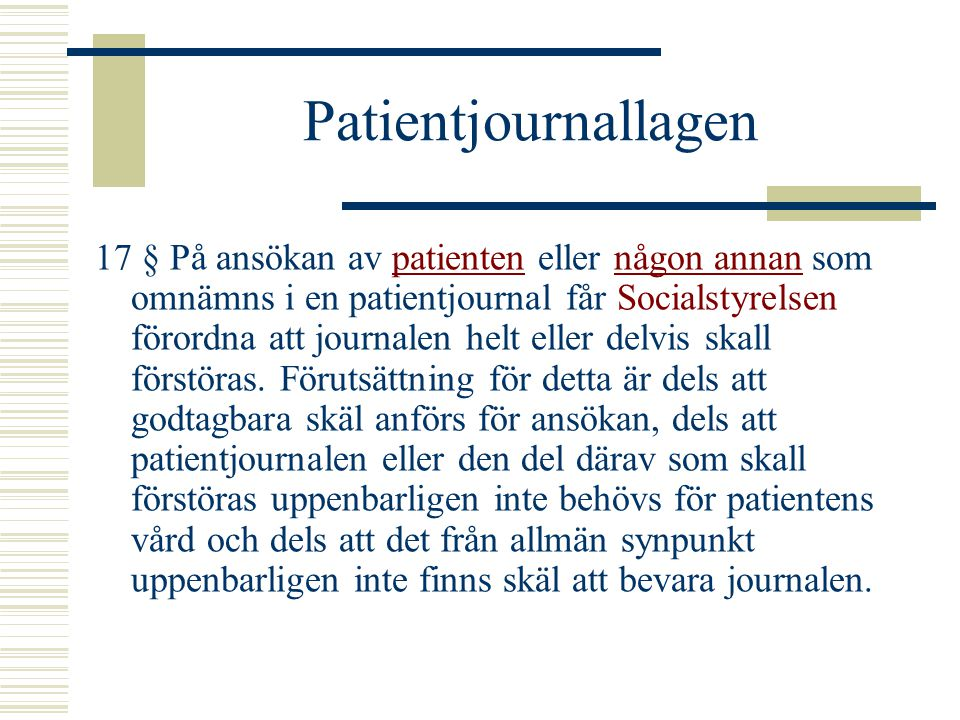 Patientjournallagen