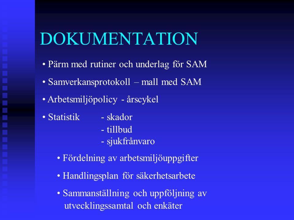 DOKUMENTATION Pärm med rutiner och underlag för SAM
