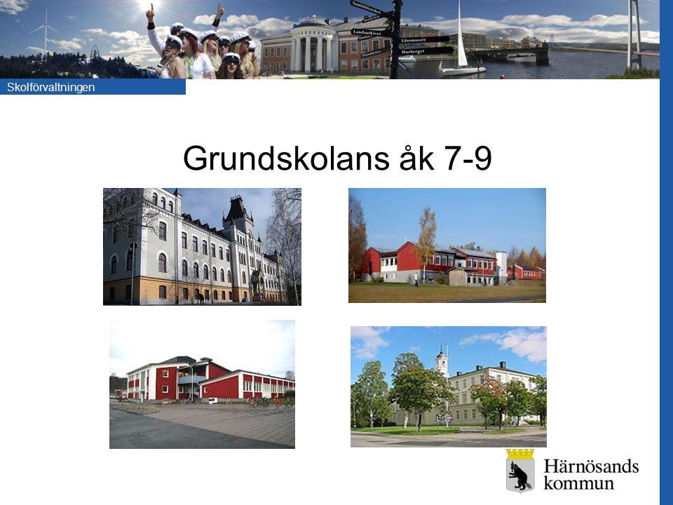 Grundskolans åk 7-9