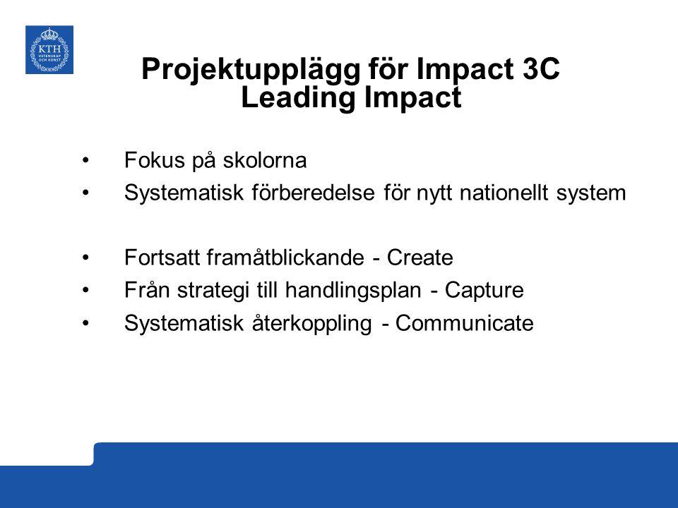 Projektupplägg för Impact 3C Leading Impact