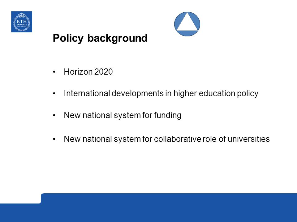 Policy background Horizon 2020