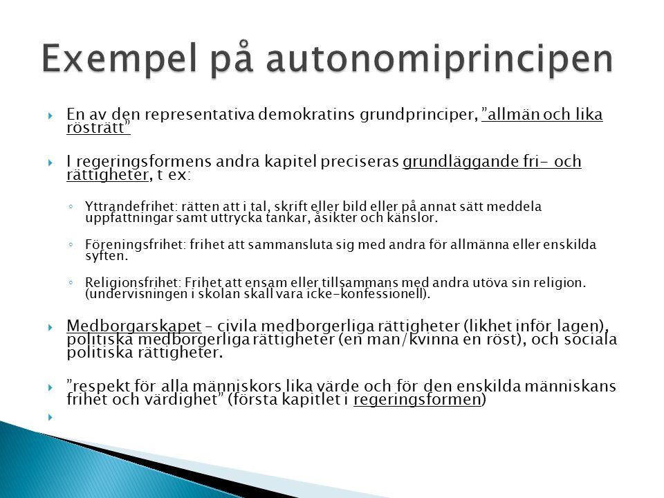 Exempel på autonomiprincipen